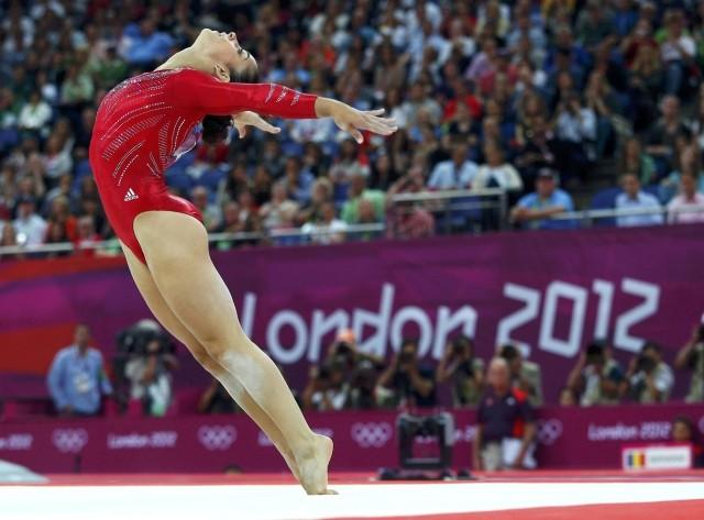 Alexandra Raisman of the U.S. performs her floor exercise