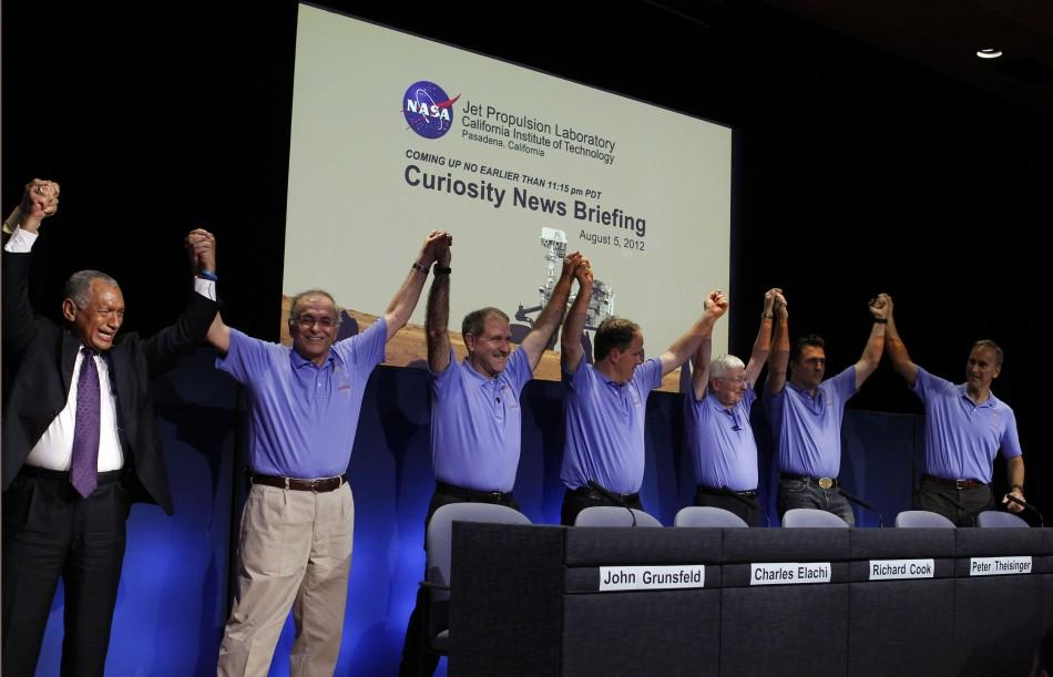 NASA Lands Mars Rover Curiosity
