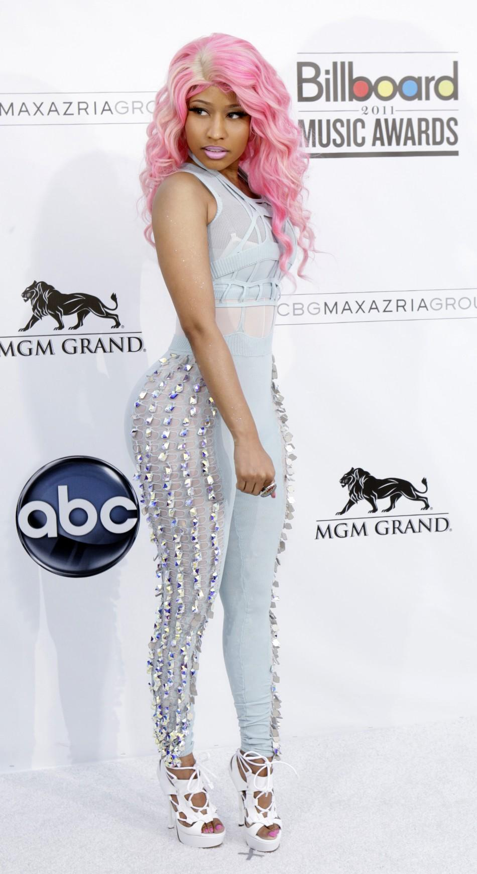Rapper and singer-songwriter from Trinidad and Tobago Nicki Minaj arrives at the 2011 Billboard Music Awards show in Las Vegas