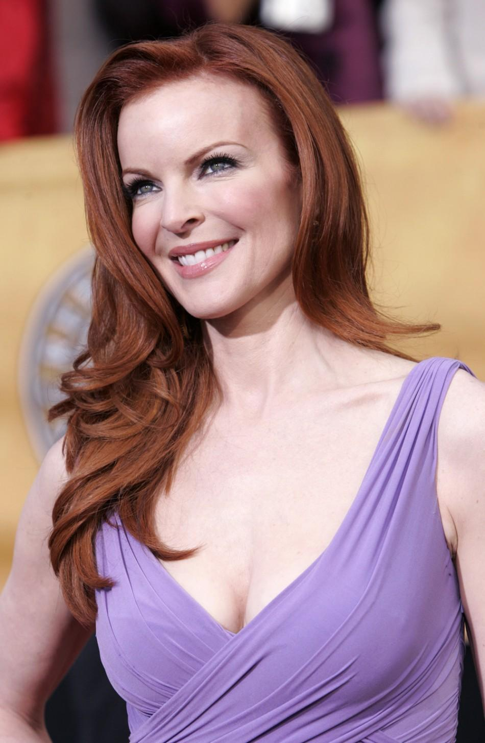 "Marcia Cross from the series ""Desperate Housewives"" arrives on the red carpet at the 12th annual Scr.."