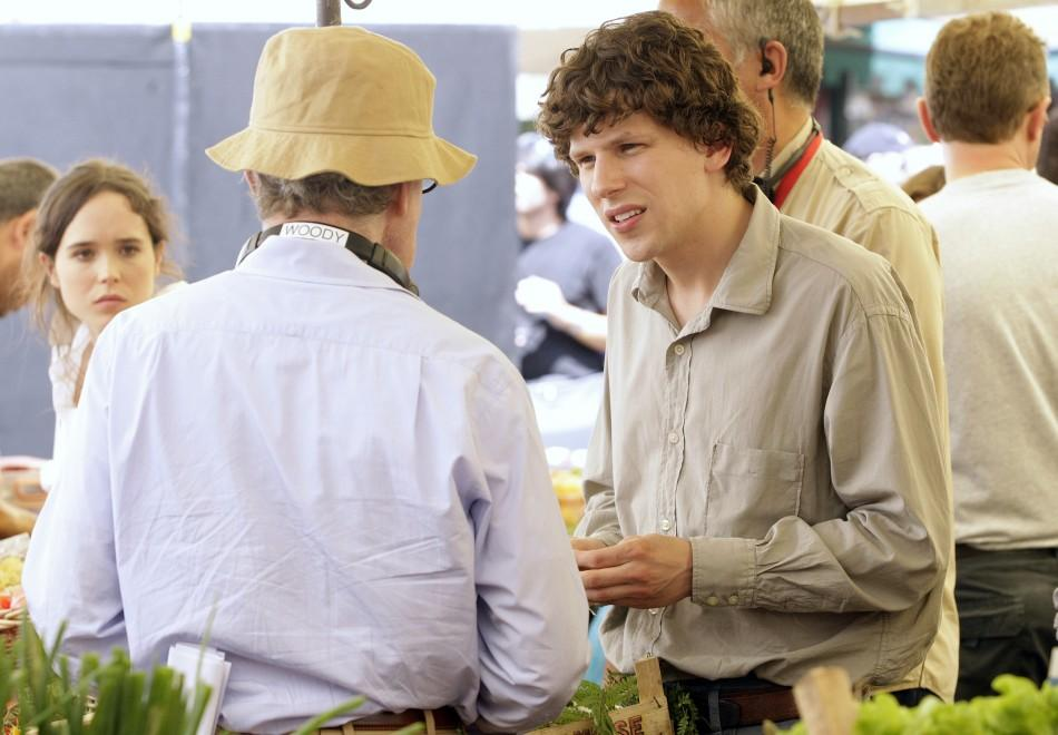 Jesse Eisenberg and Woody Allen