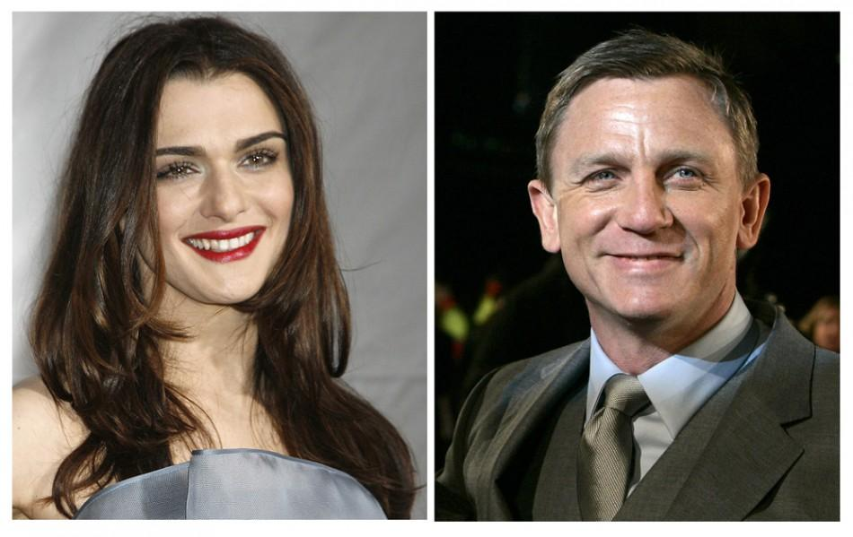 Actors Daniel Craig and Rachel Weisz