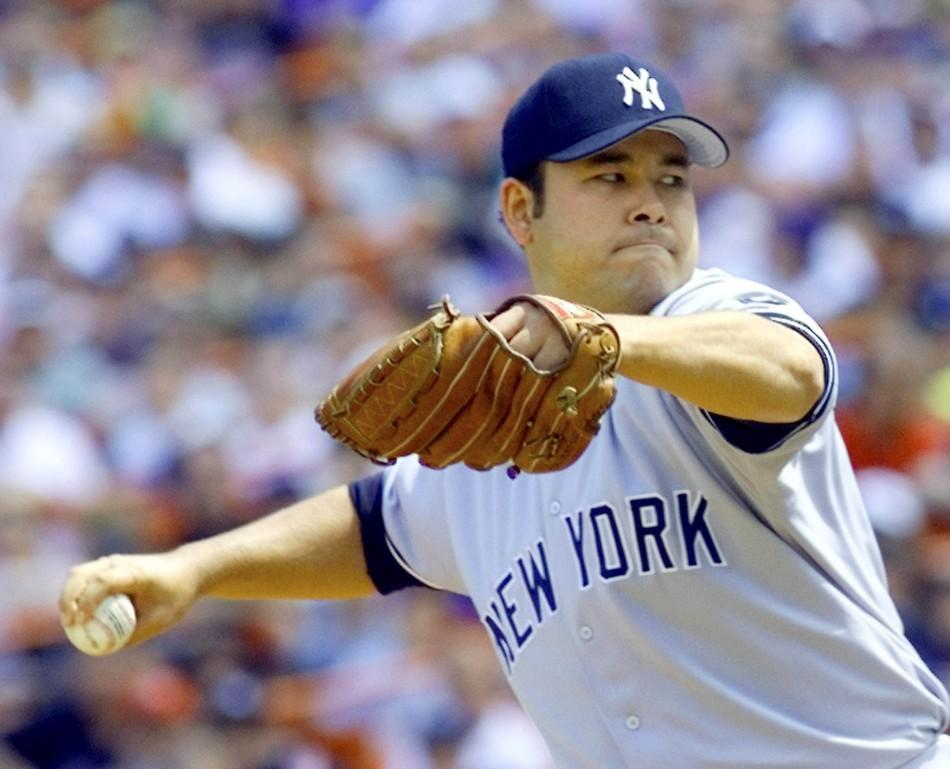 Japanese pitcher Hideki Irabu, who never reached the lofty expectations the Yankees had for him, was traded by New York to the Expos Dec. 22 for minor league pitcher Jake Westbrook and two players to be named. Irabu, shown in action as he picked up his si