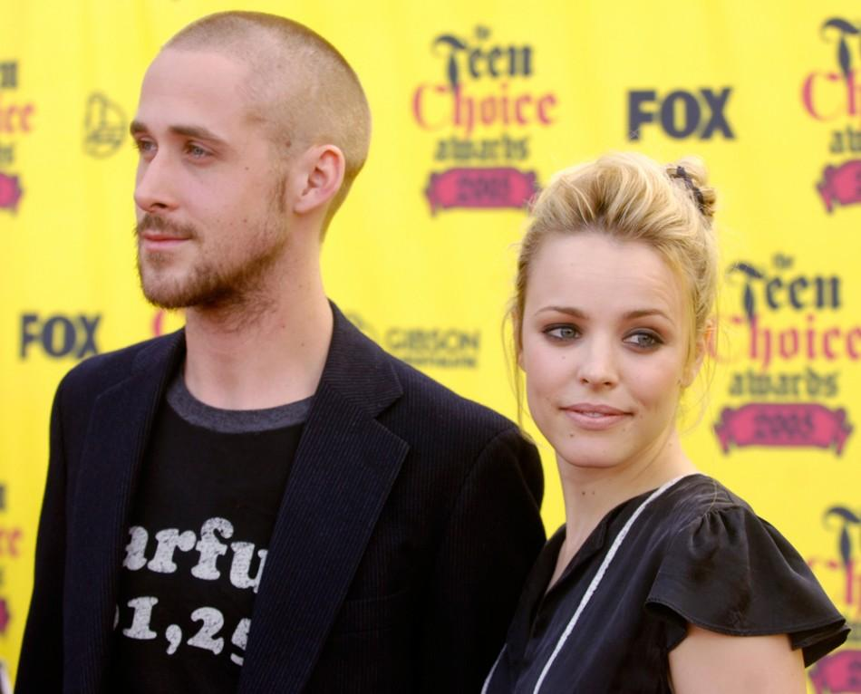 Actors Ryan Gosling and Rachel McAdams