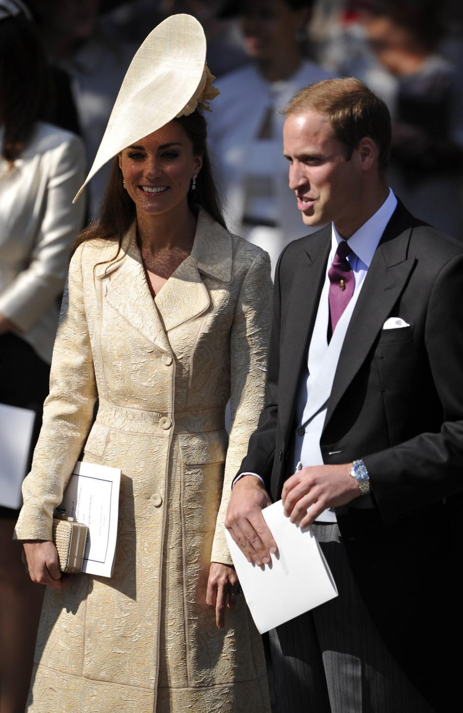 Kate Middleton in Beige-looking coat at Zara Phillips and Mike Tindall's wedding