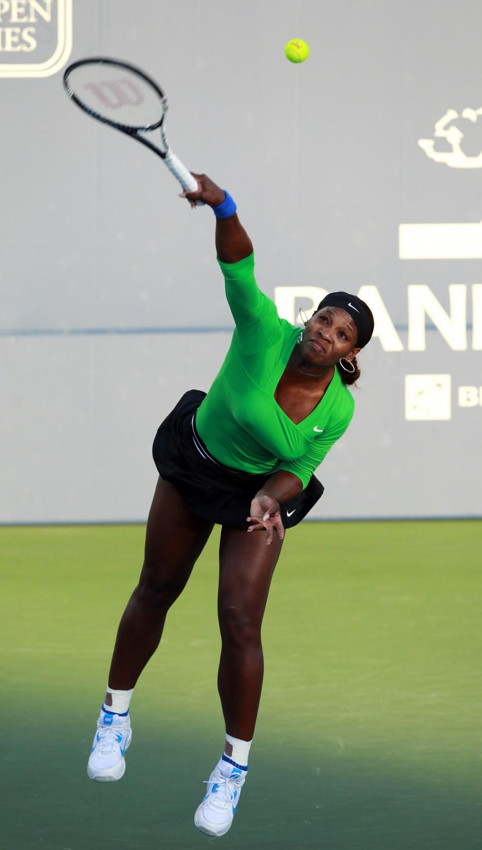 Semi-final match between Serena Williams and Sabine Lisicki