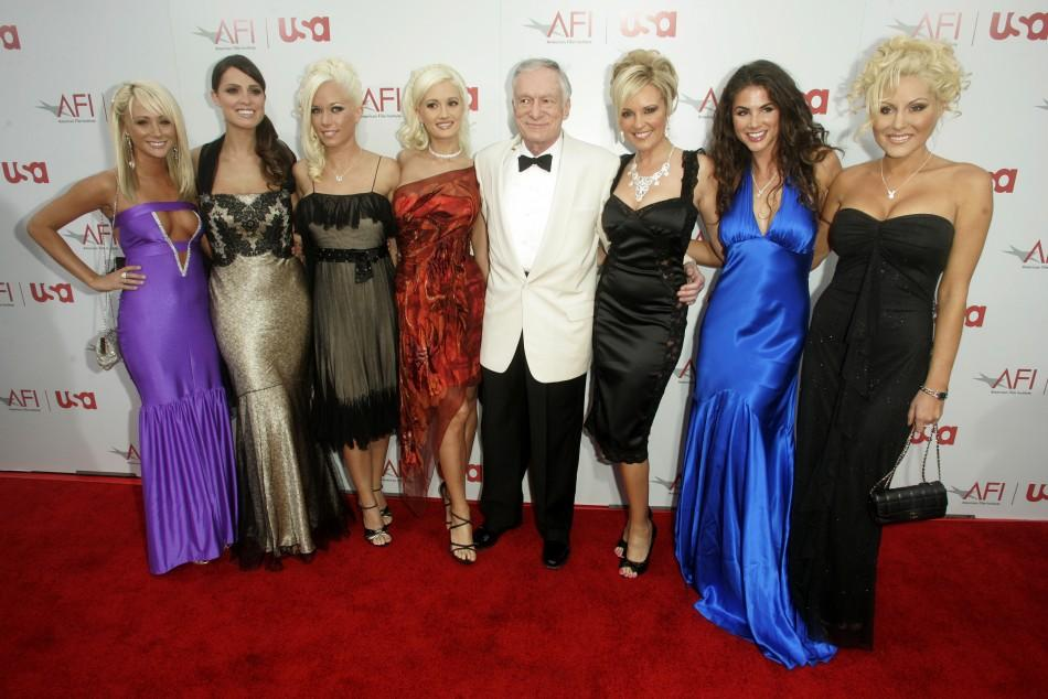 Hugh Hefner with Playmates