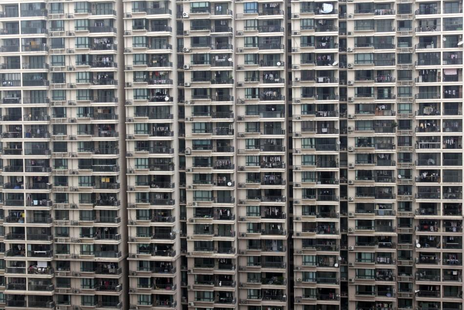 A view of a residential building in Shanghai June 10, 2009.
