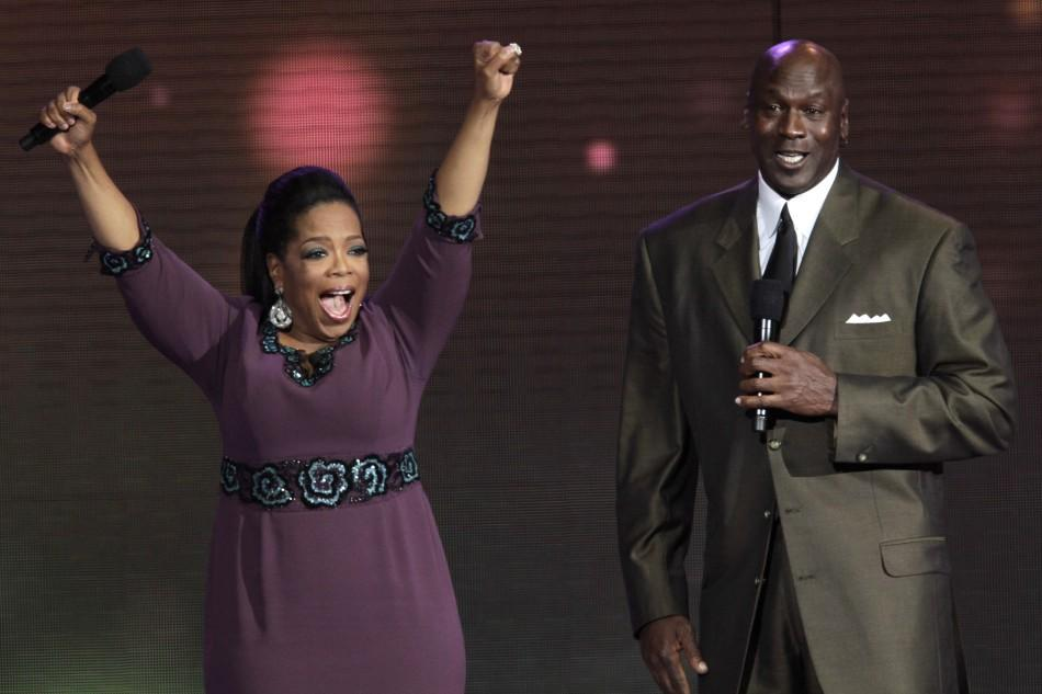 Oprah Winfrey and Michael Jordan