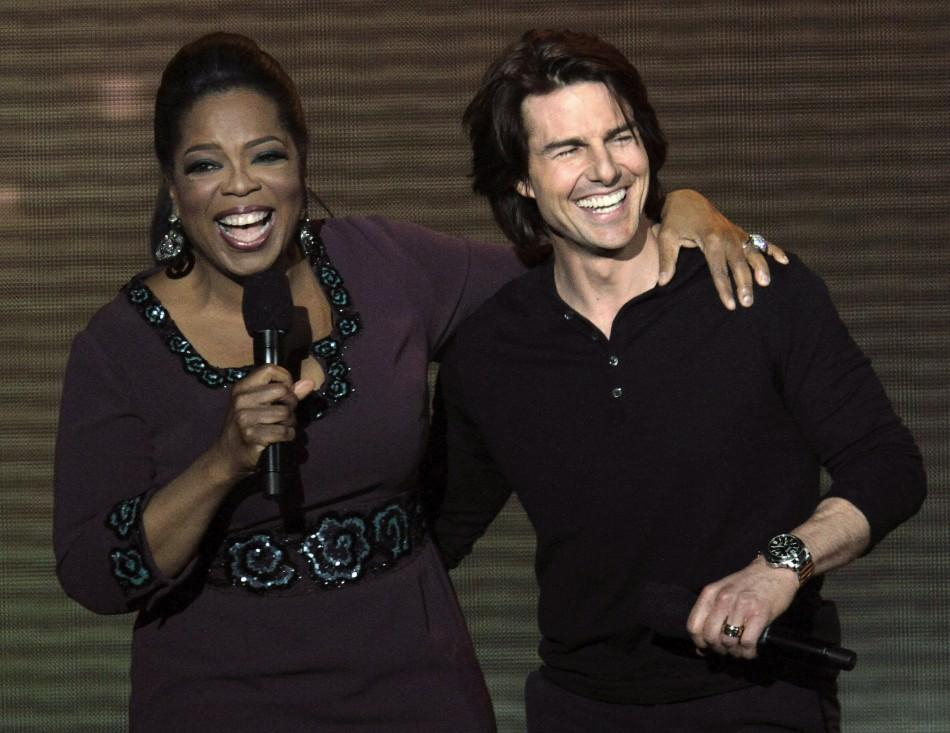 Oprah Winfrey and Tom Cruise