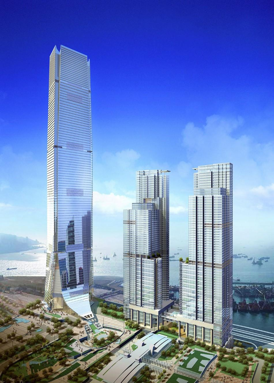 An artist's impression of the International Commerce Centre in Hong Kong.