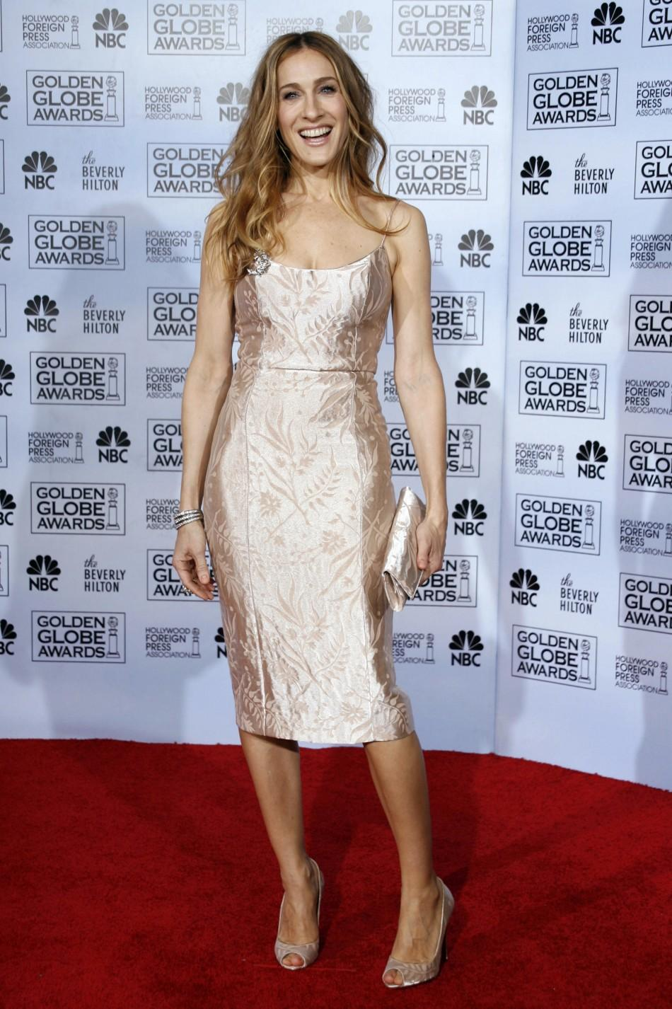 Sarah Jessica Parker poses backstage at the 64th annual Golden Globe Awards in Beverly Hills