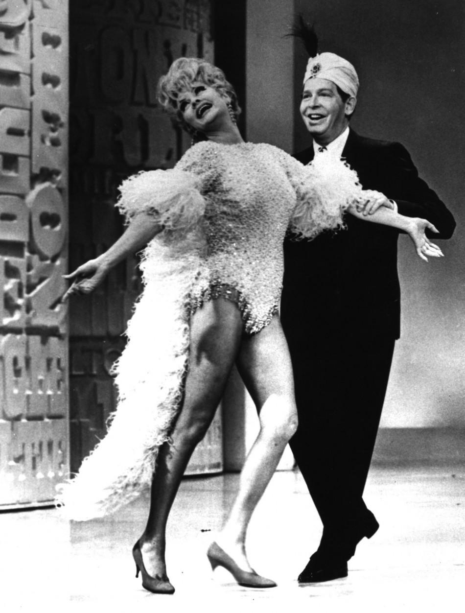 Lucille Ball and Milton Berle