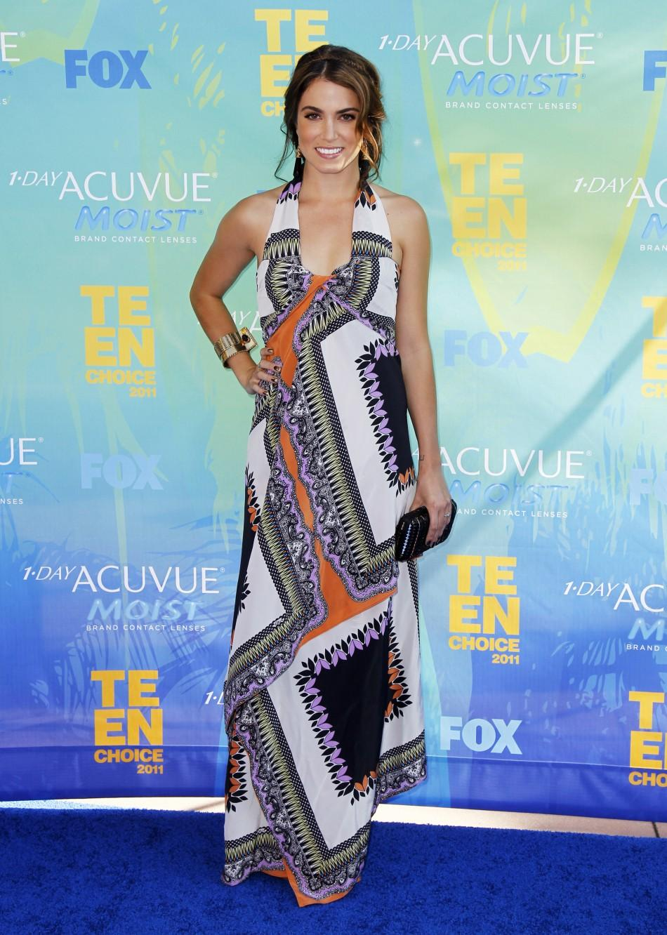 Actress Nikki Reed arrives at the Teen Choice Awards in Los Angeles