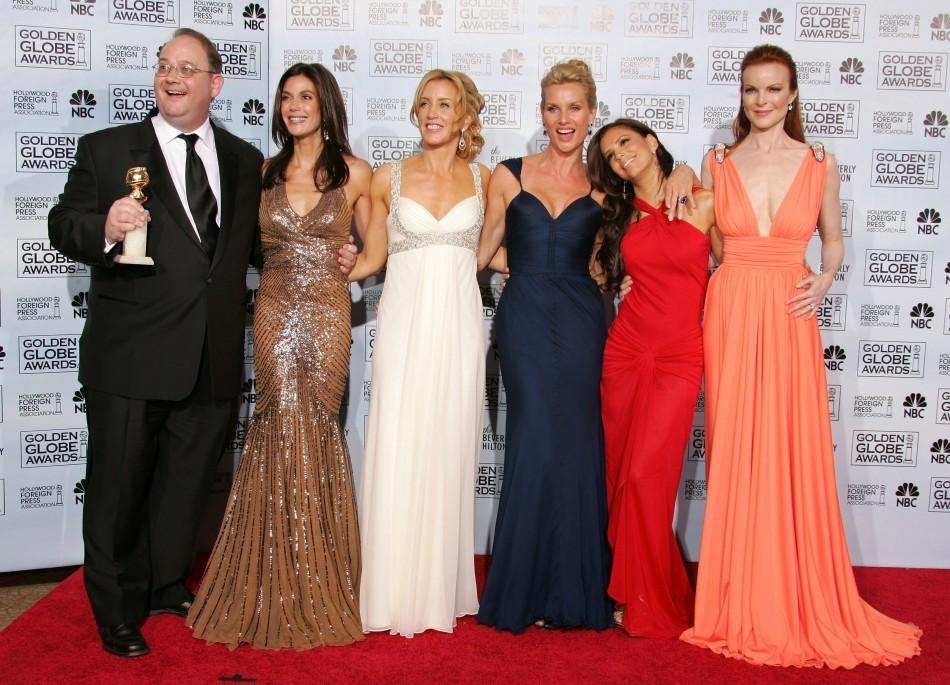 """Desperate Housewives"" Executive Producer Marc Cherry and cast members Teri Hatcher, Felicity Huffma.."