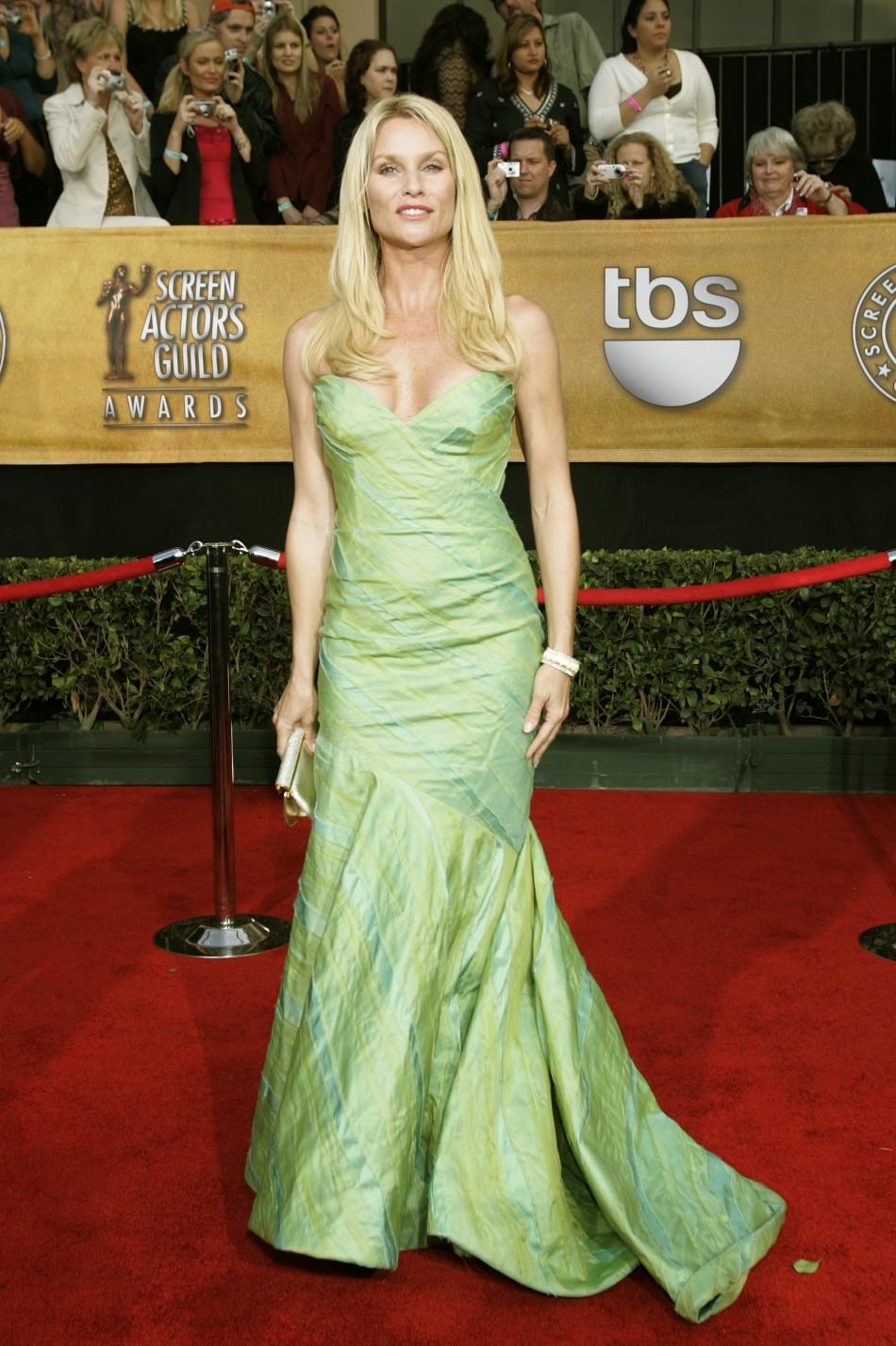 Actress Nicollette Sheridan poses at 12th annual Screen Actors Guild Awards in Los Angeles
