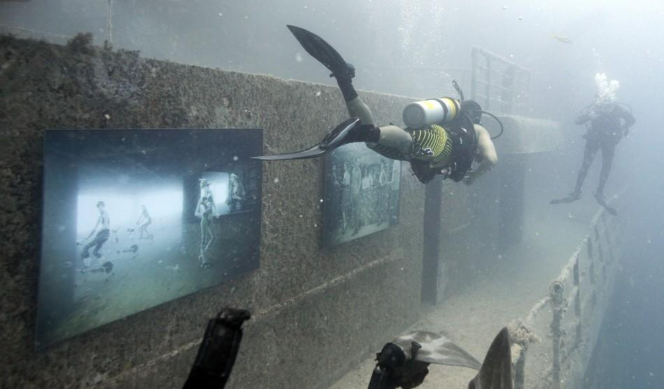 Underwater Photo Exhibition on Artificial 'Sunken Ship' Reef in Florida Woos Divers