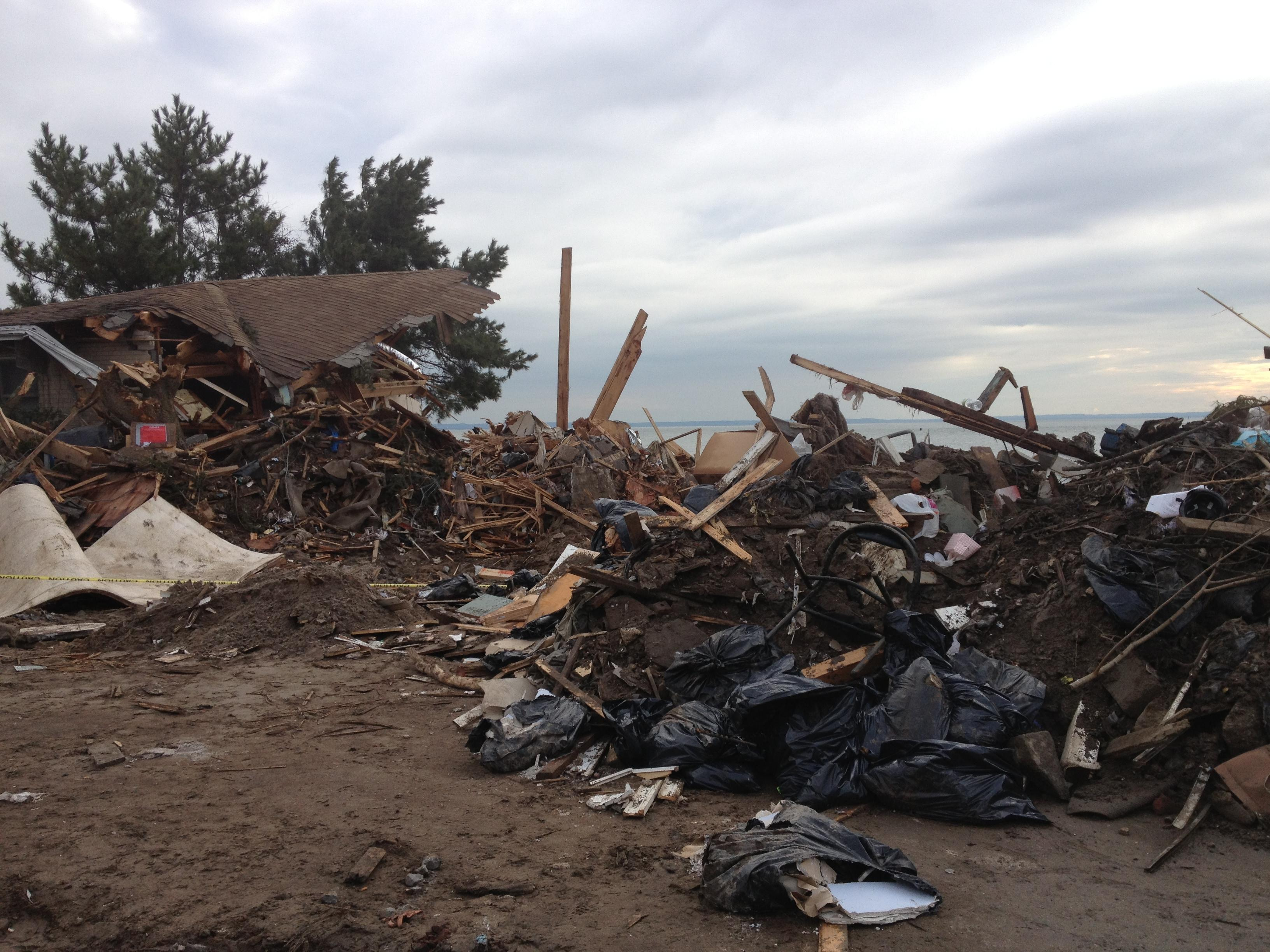 Sandy-Destroyed Home In Sea Gate