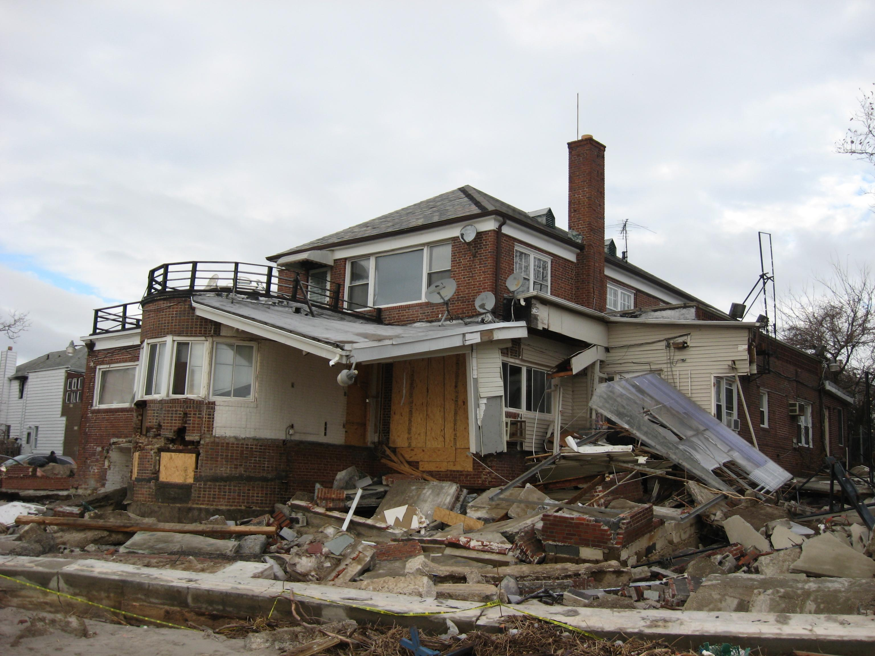 Sandy-Destroyed Home In Sea Gate, Brooklyn