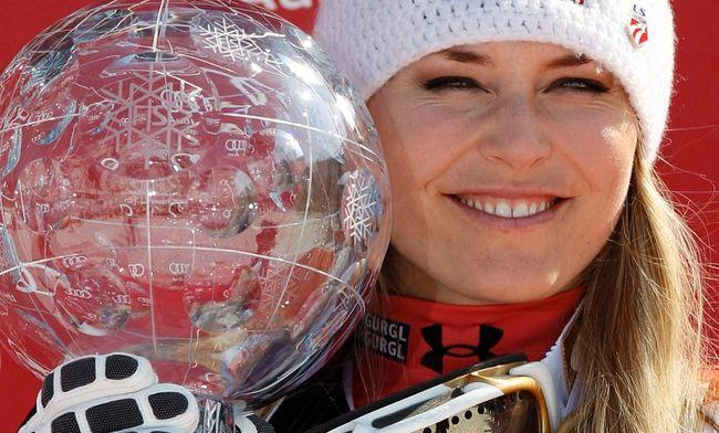 Lindsey Vonn finishes tied for fifth place in women's super-G
