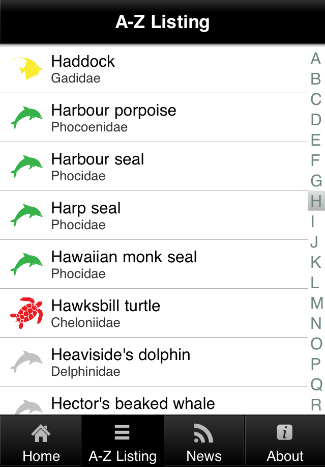 Screenshot, Applifish menu