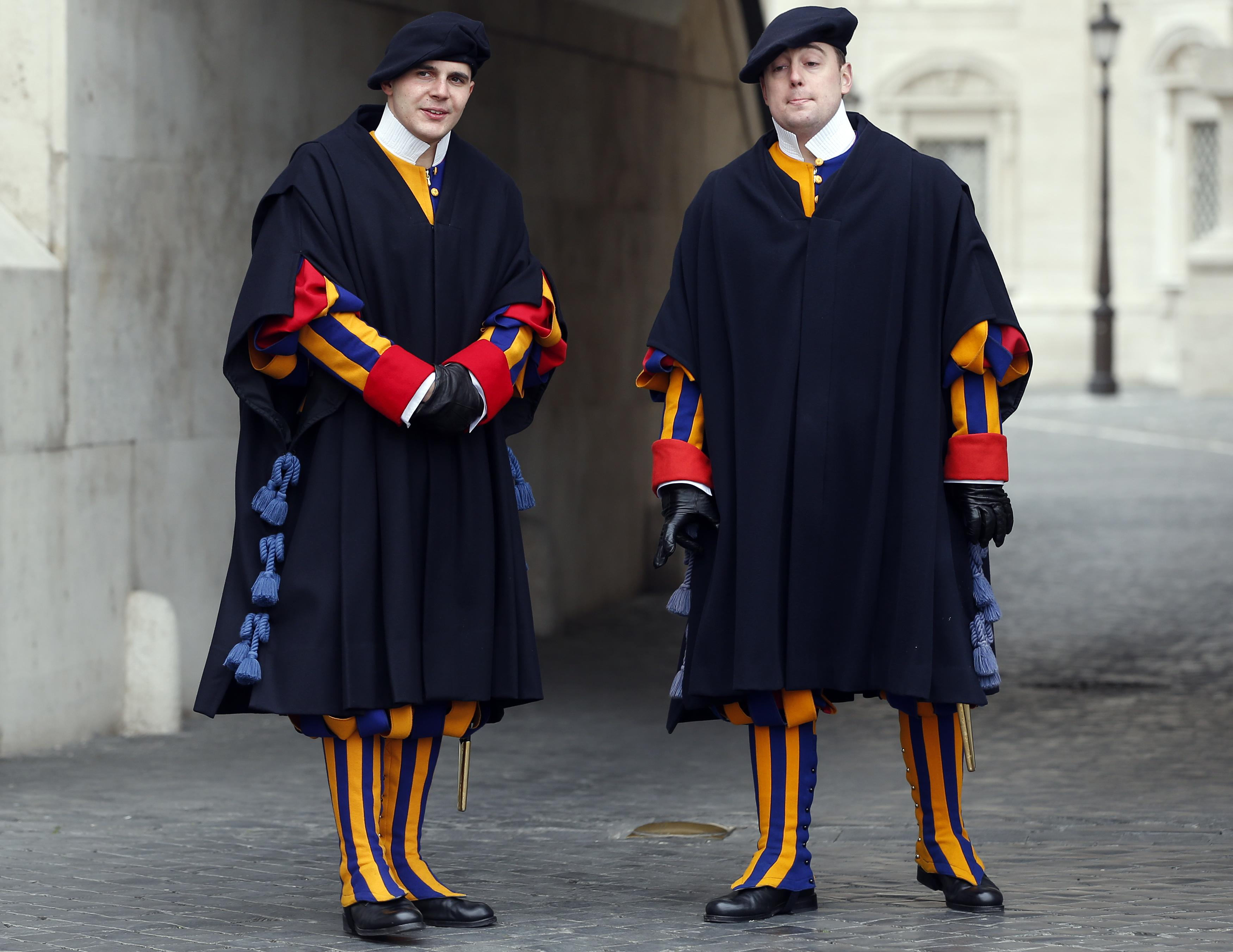Swiss Guards with capes