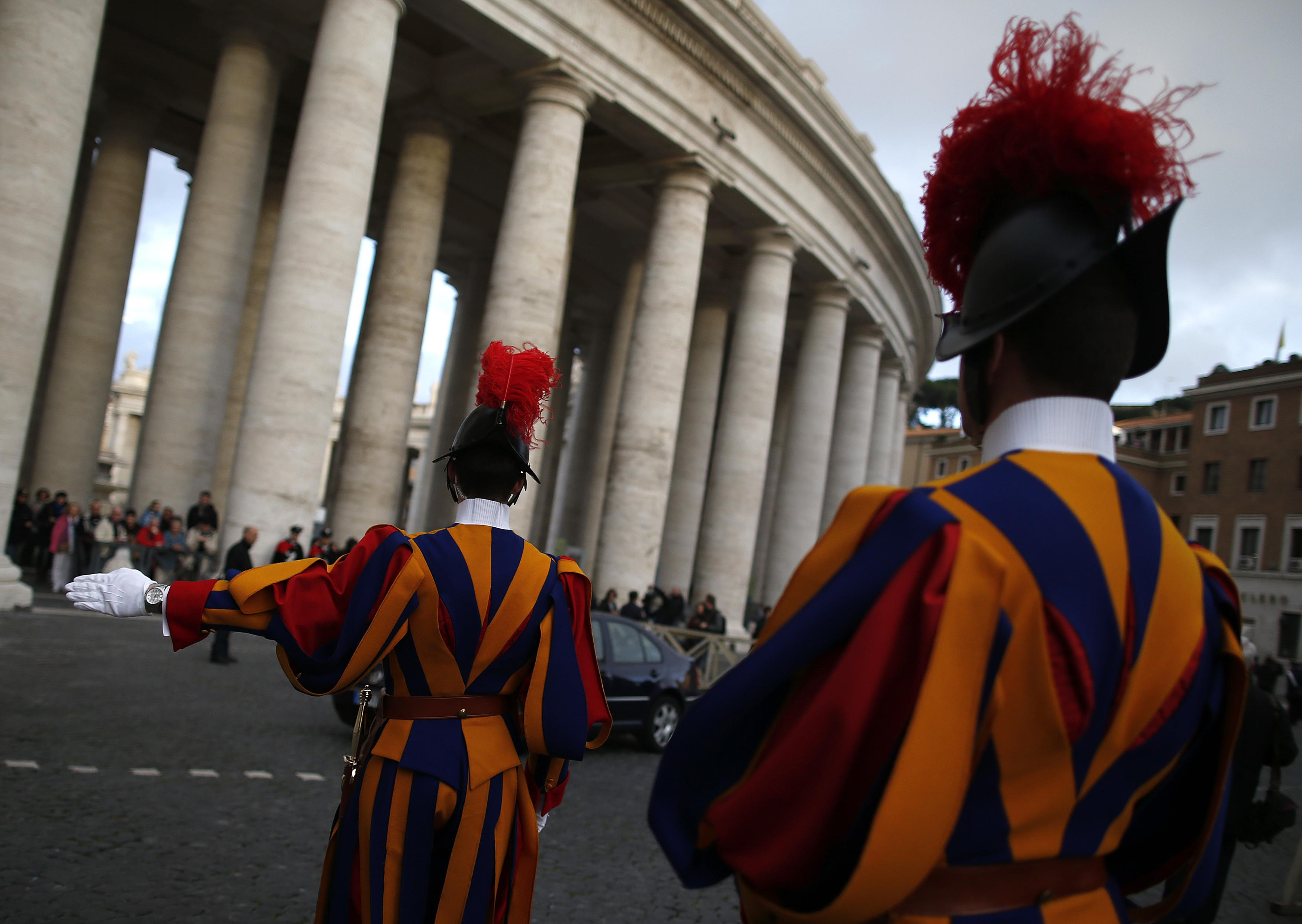 Swiss Guards in St. Peter's square