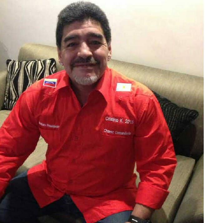 Maradona Red Shirt