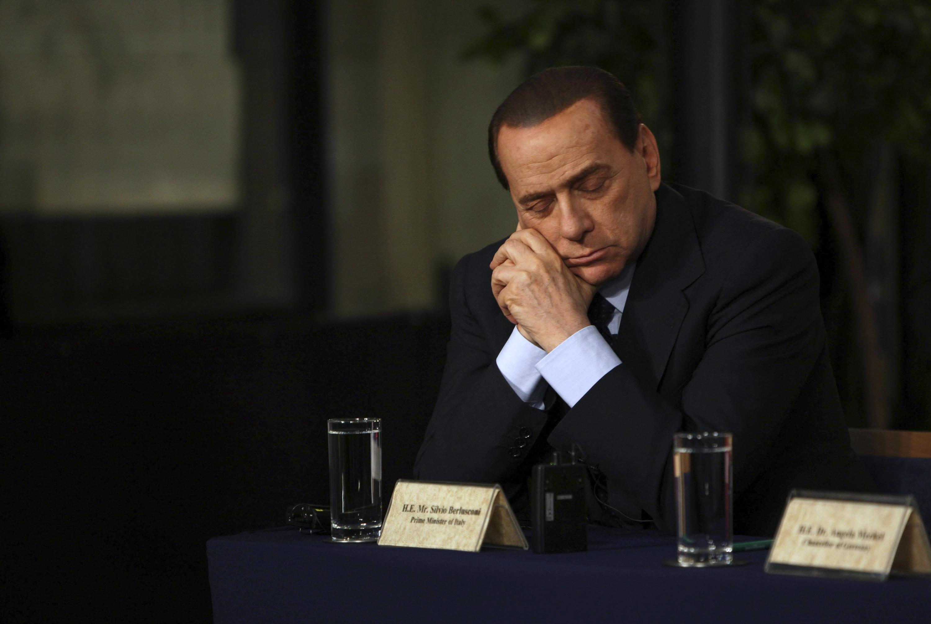 Berlusconi sleeping in Jerusalem