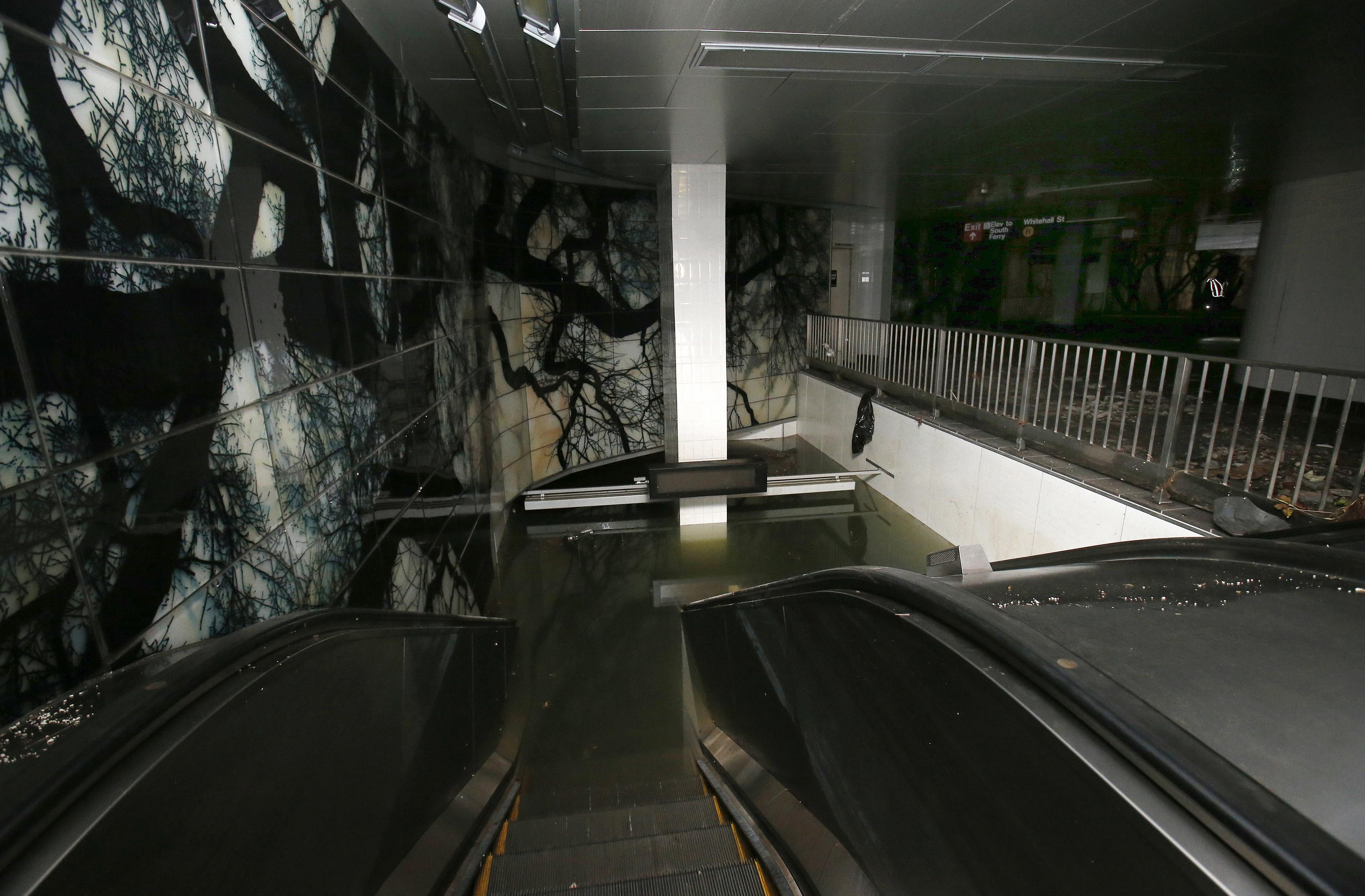 South Street Ferry Subway Station Escalator Before