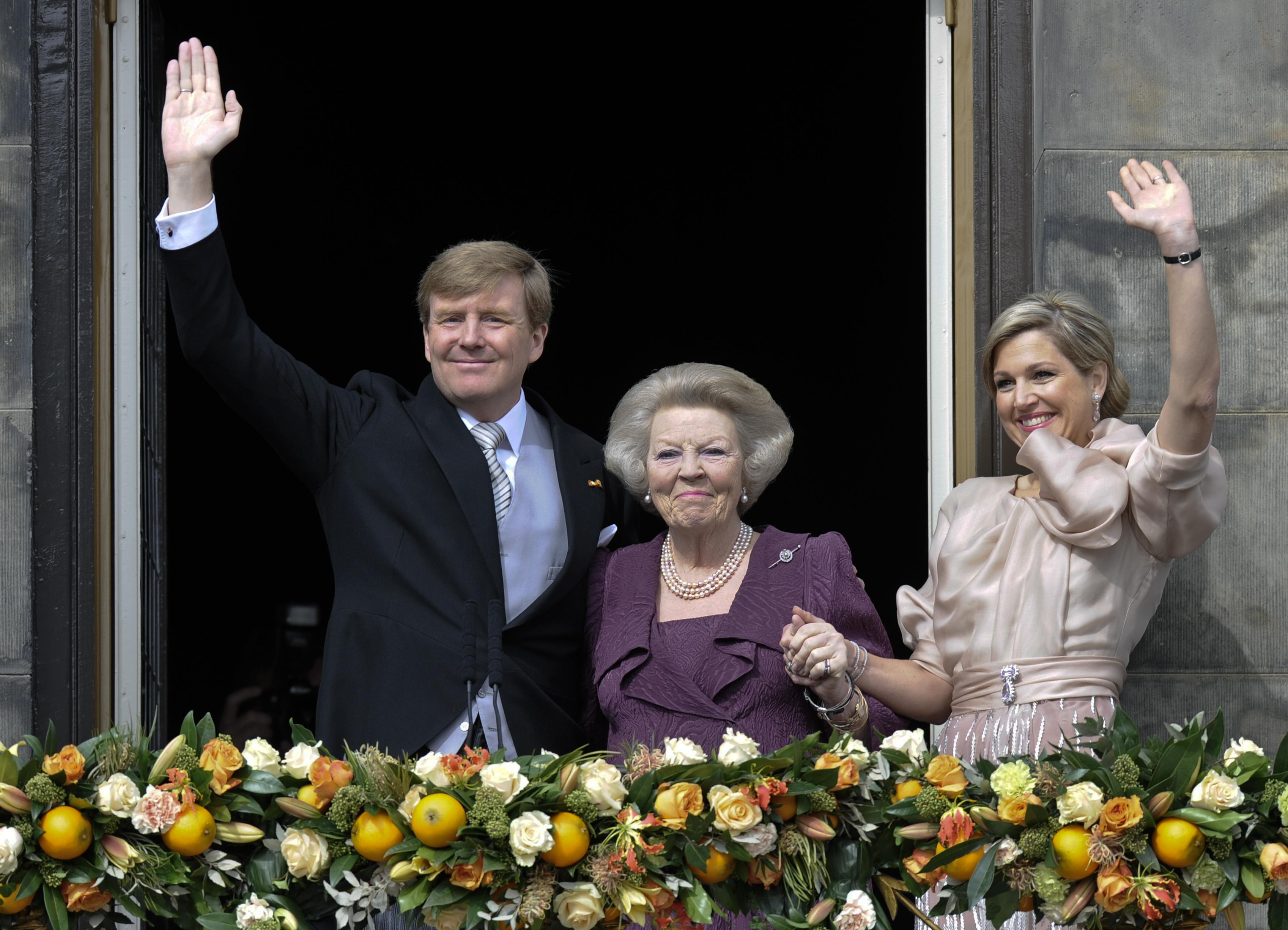 Prince Willem, Queen Beatrix, Princess Maxima of the Netherlands