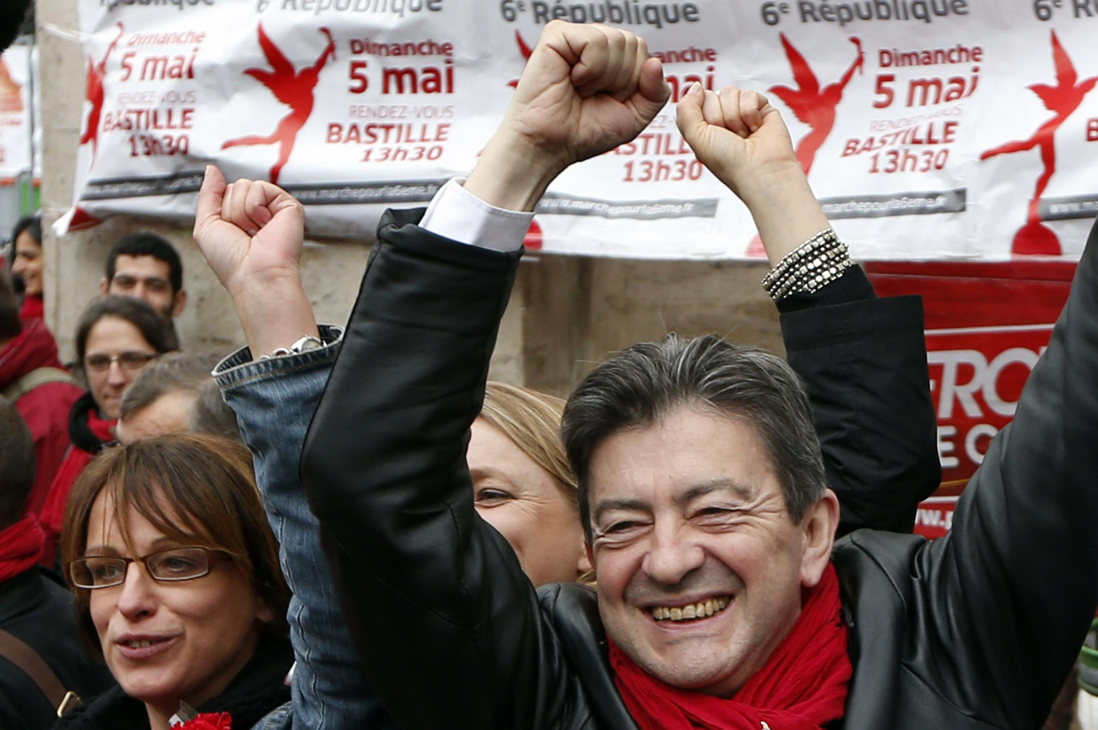 French party leader Jean-Luc Melenchon