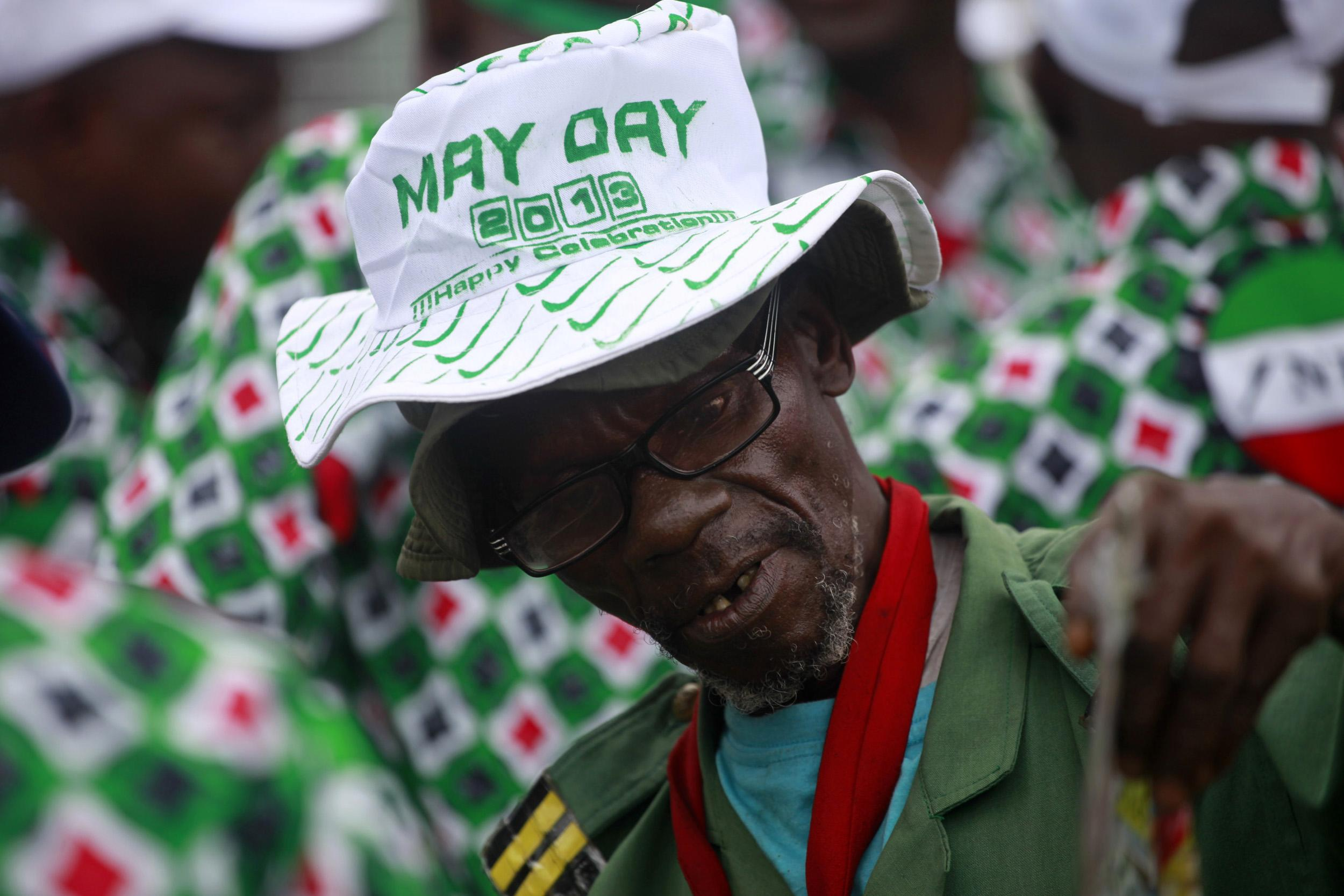 Nigerian parade attendee on May Day