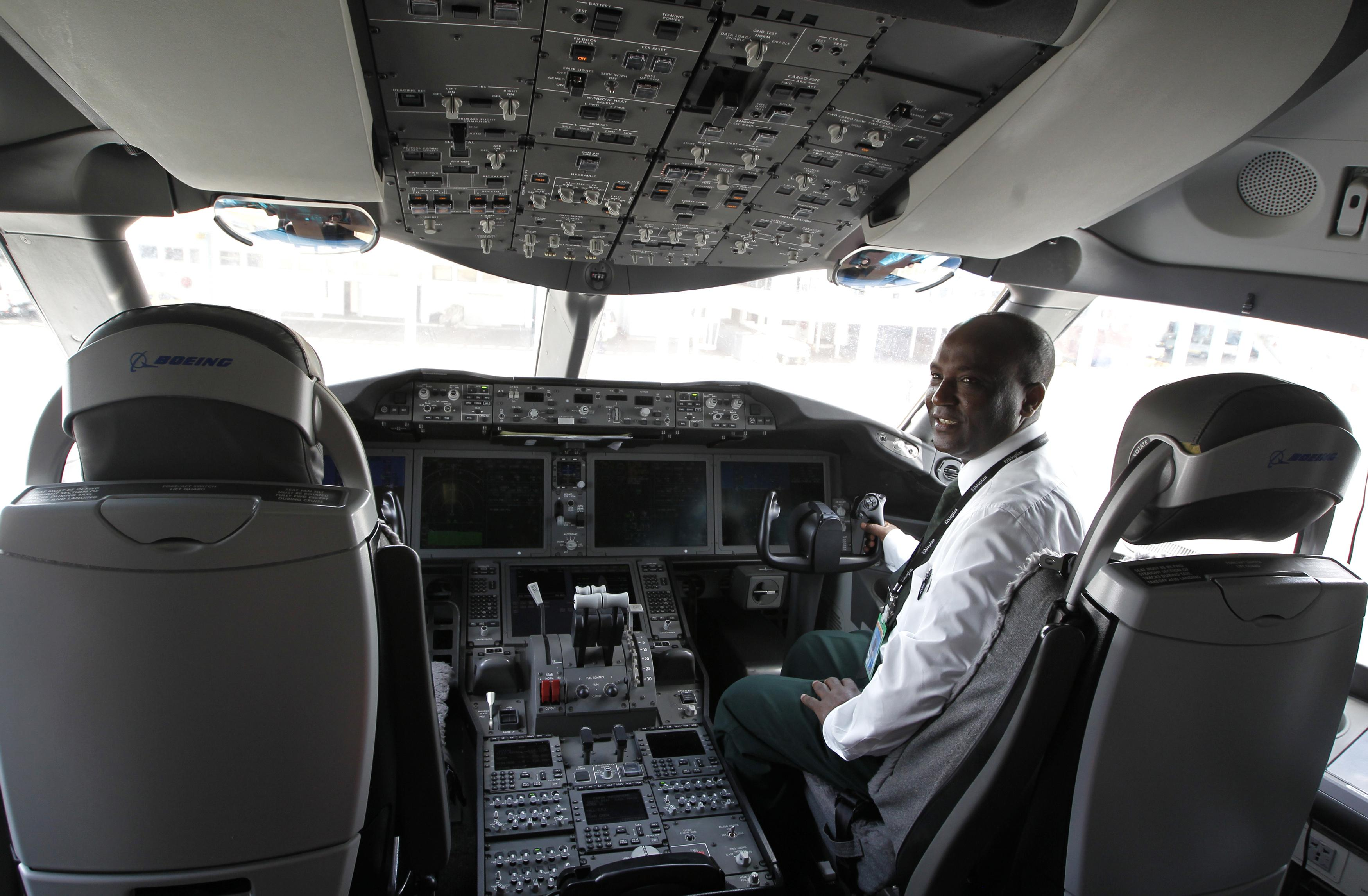 Ethiopian Airlines Cockpit