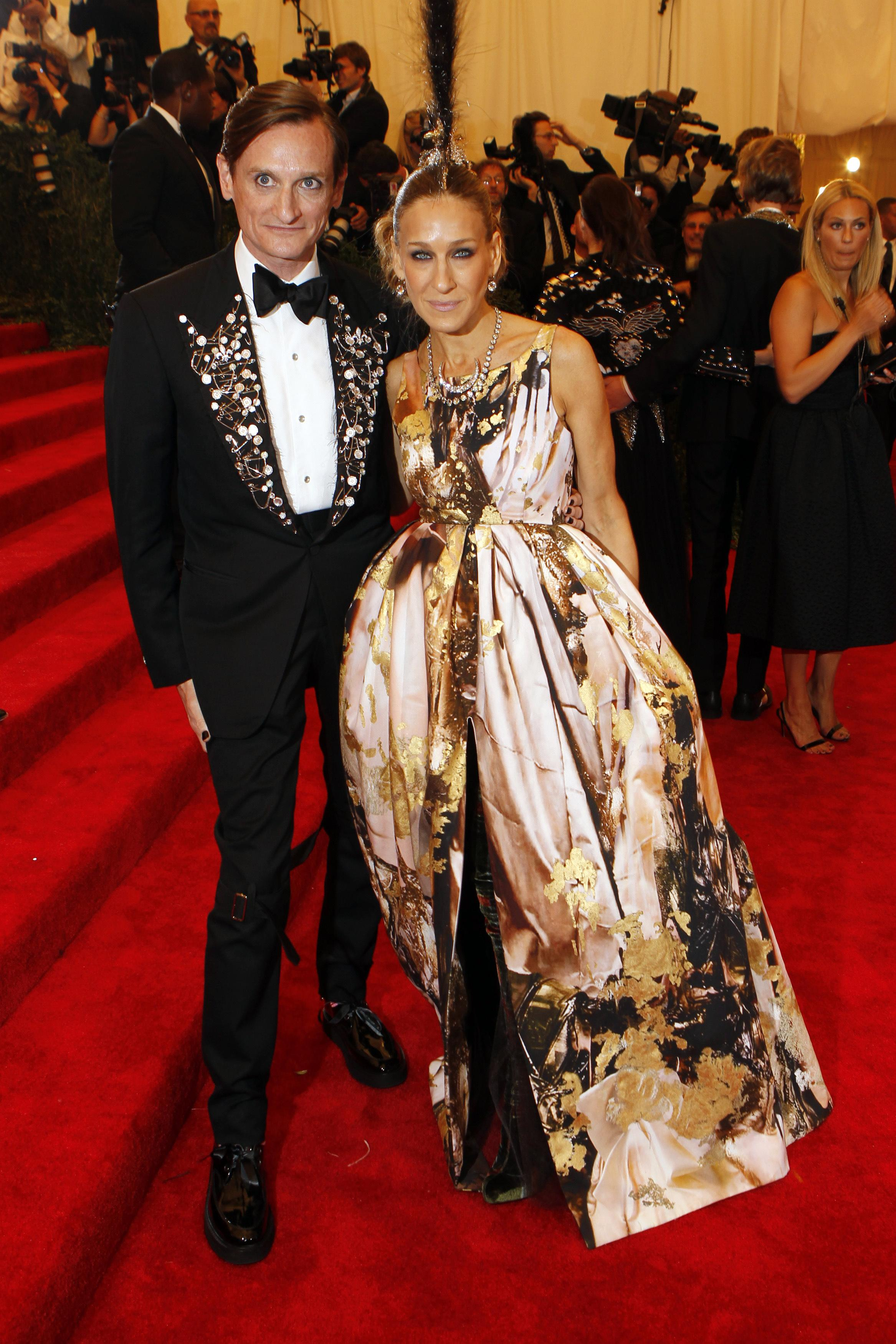 Sarah Jessica Parker and Hamish Bowles at the 2013 Met Gala