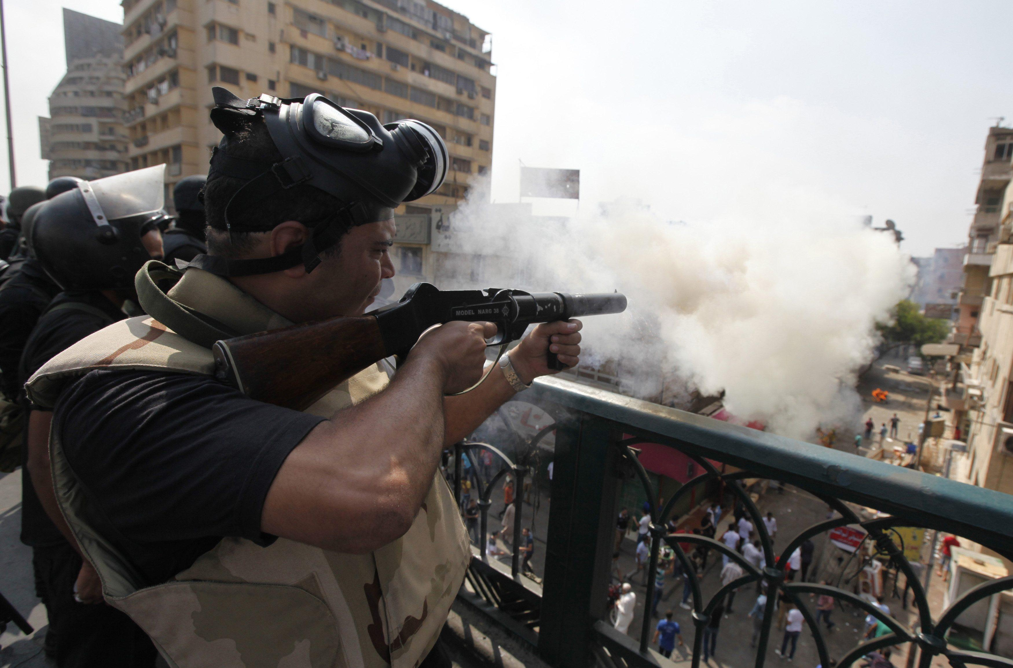 egypt tear gas