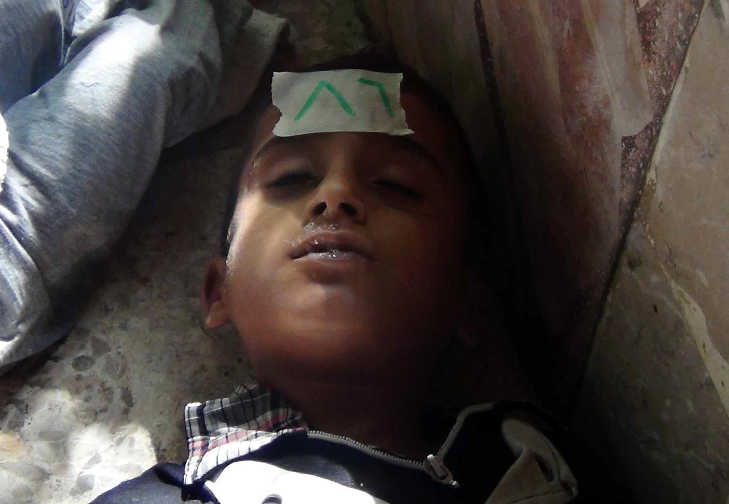 gas attack syria child casualty