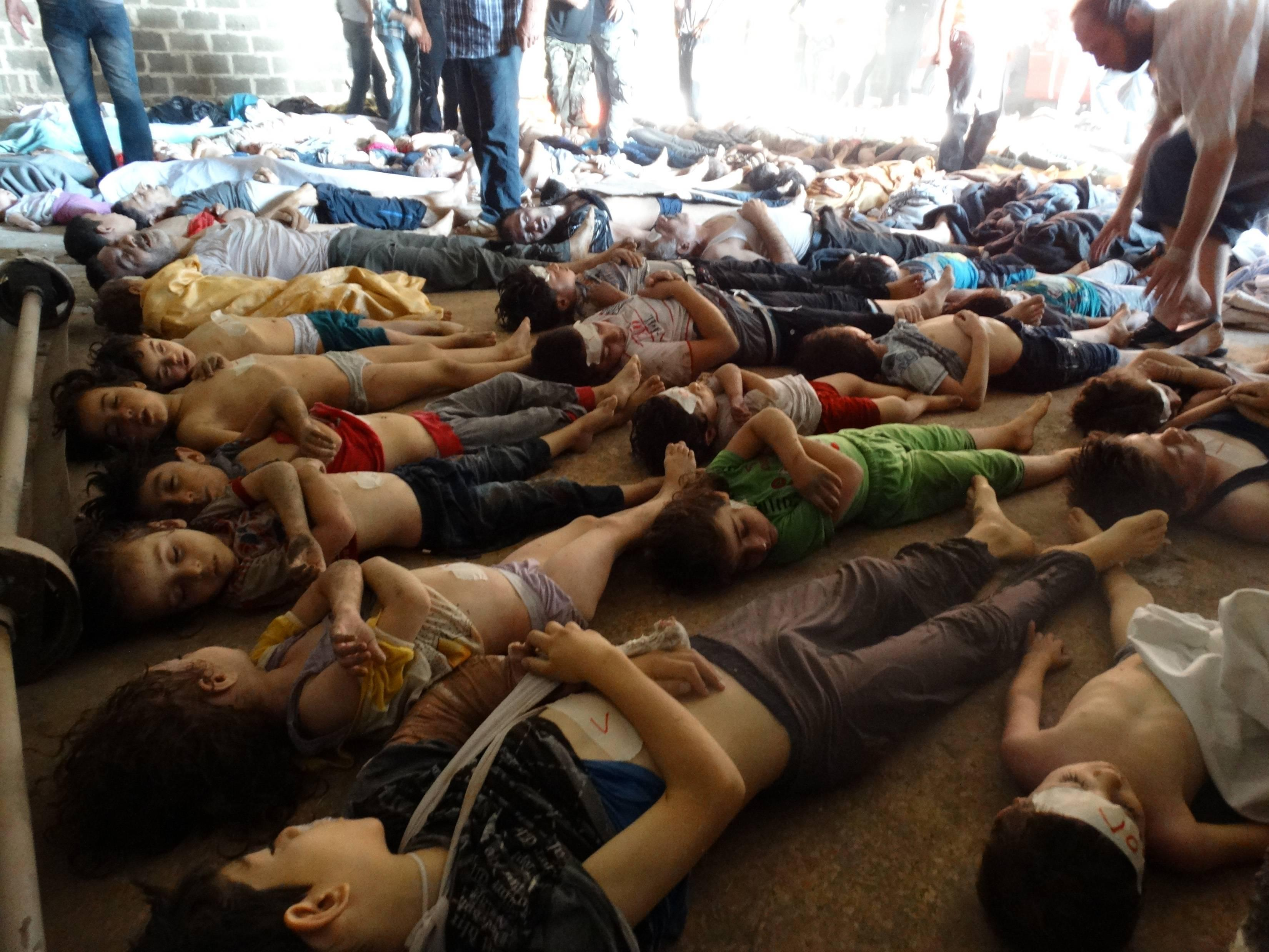 Syria bodies gas attack
