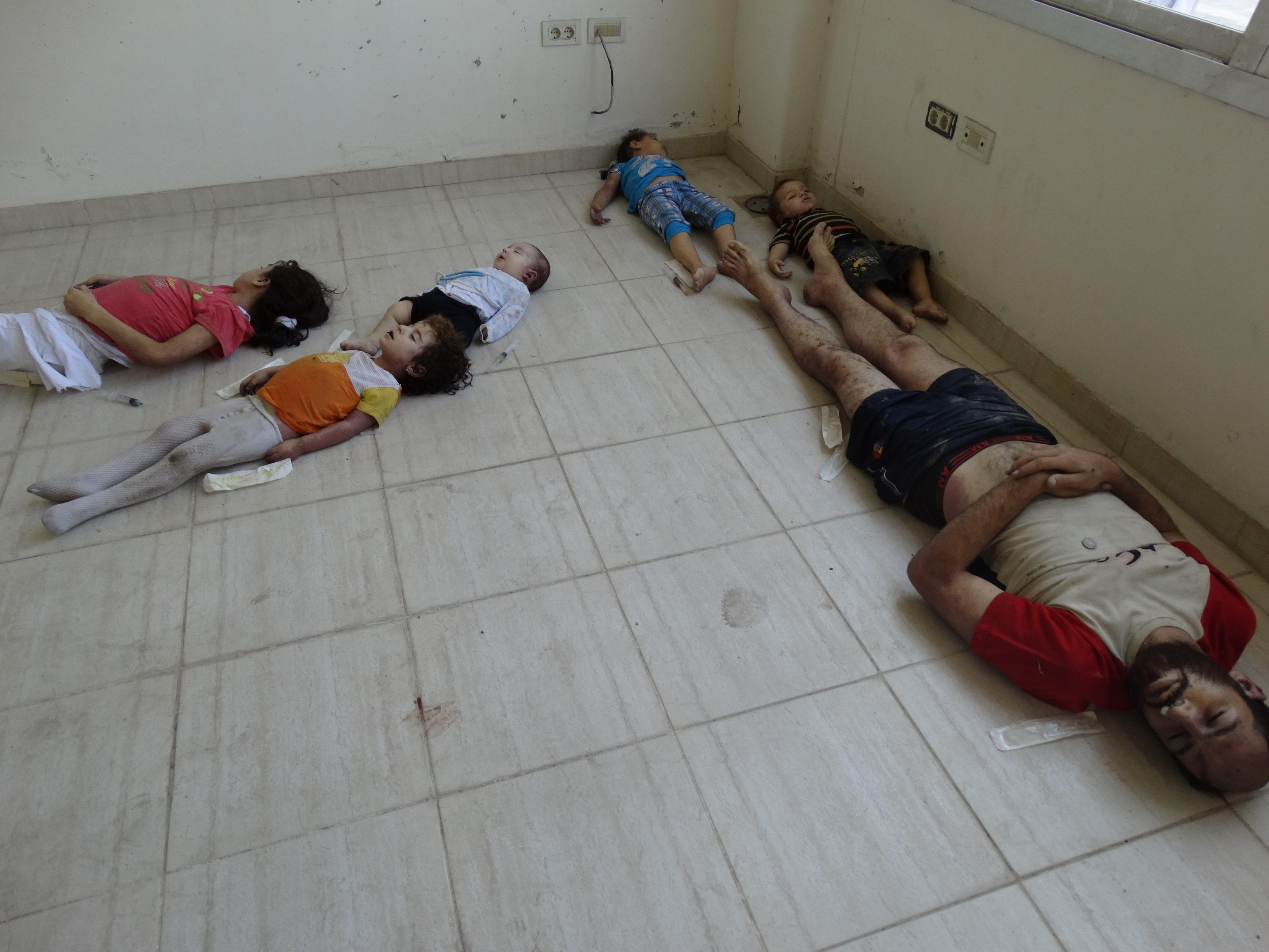 Syria casualties gas children