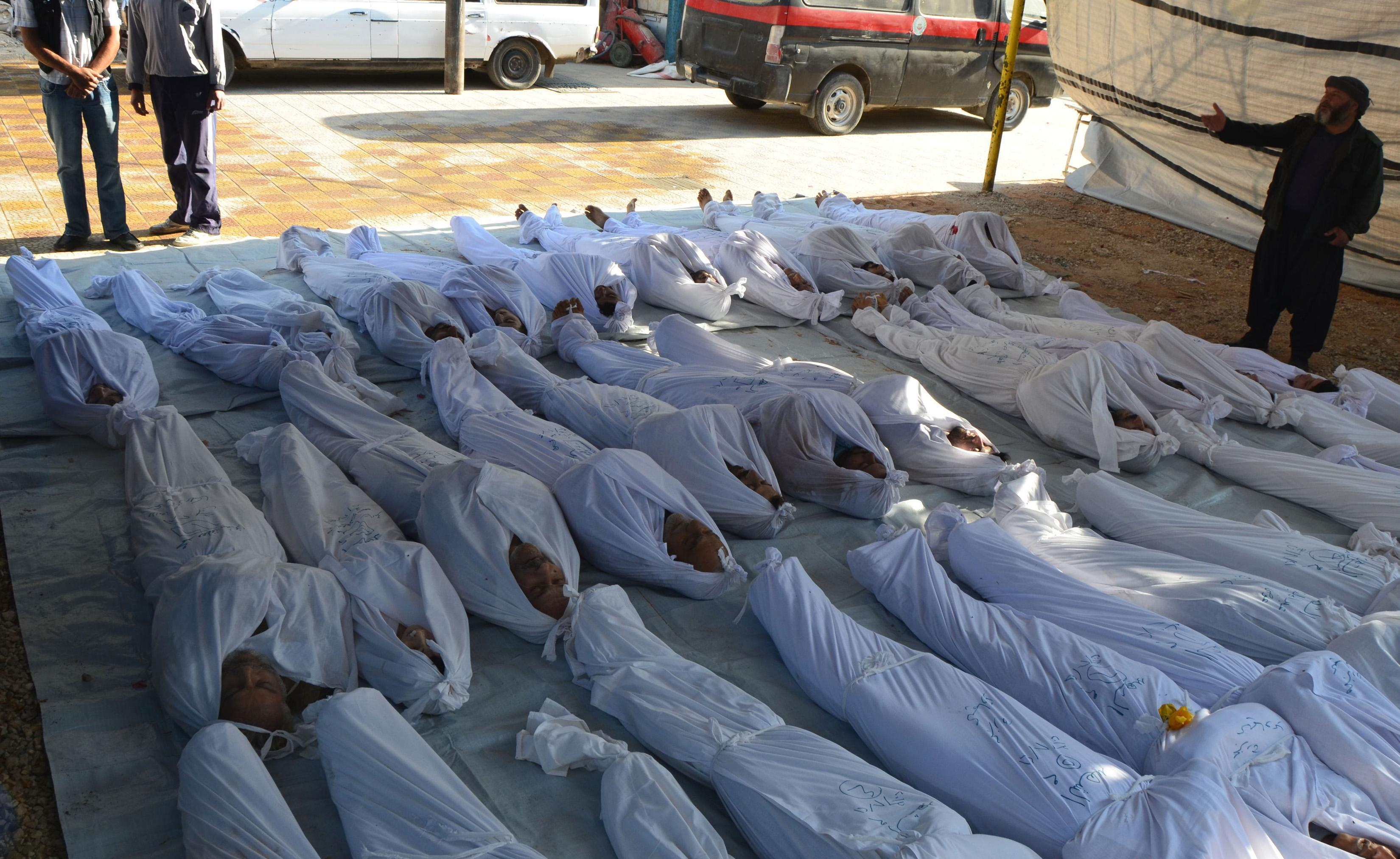Syria gas attack bodies
