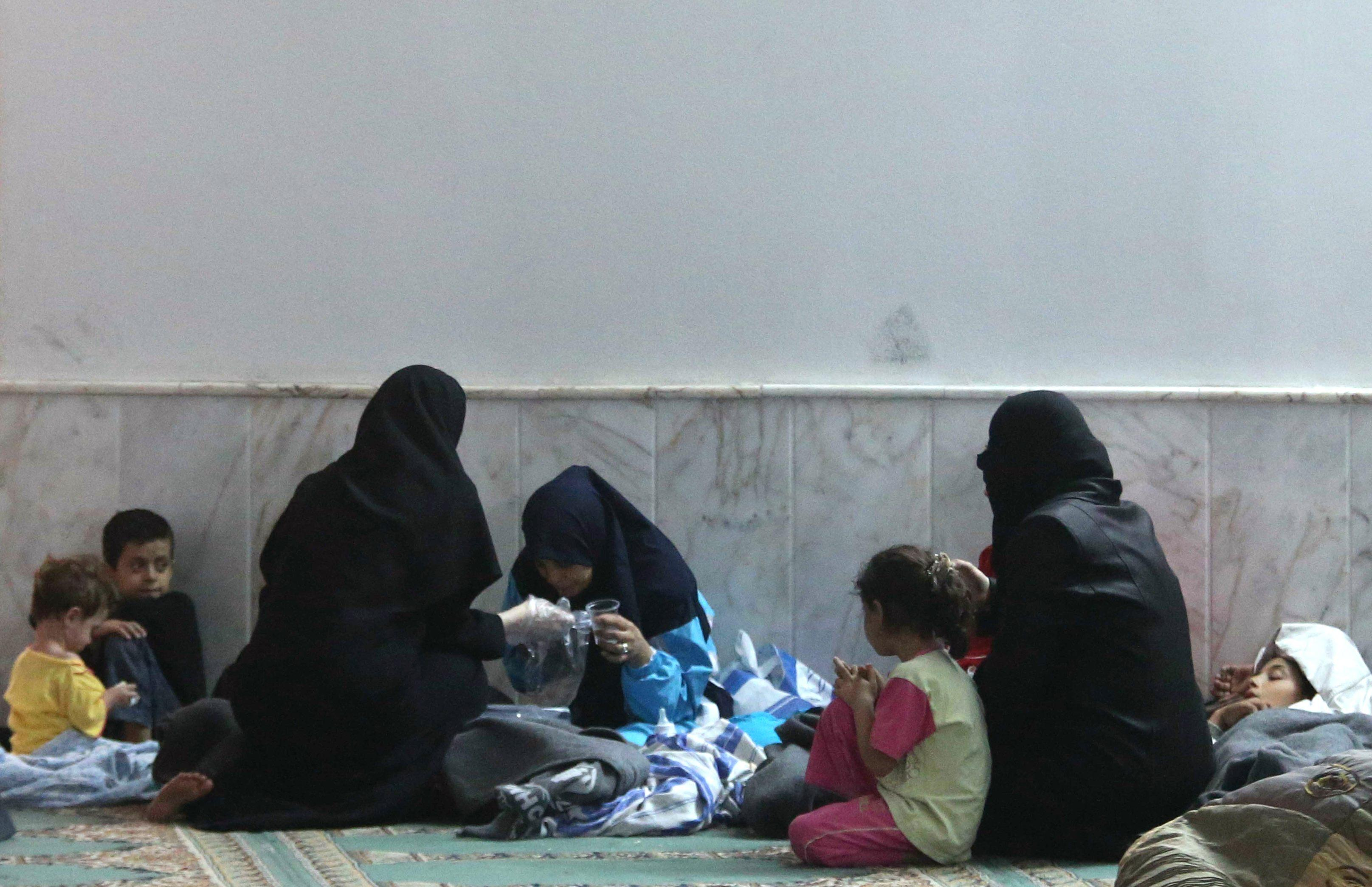 Woman syria gas attack