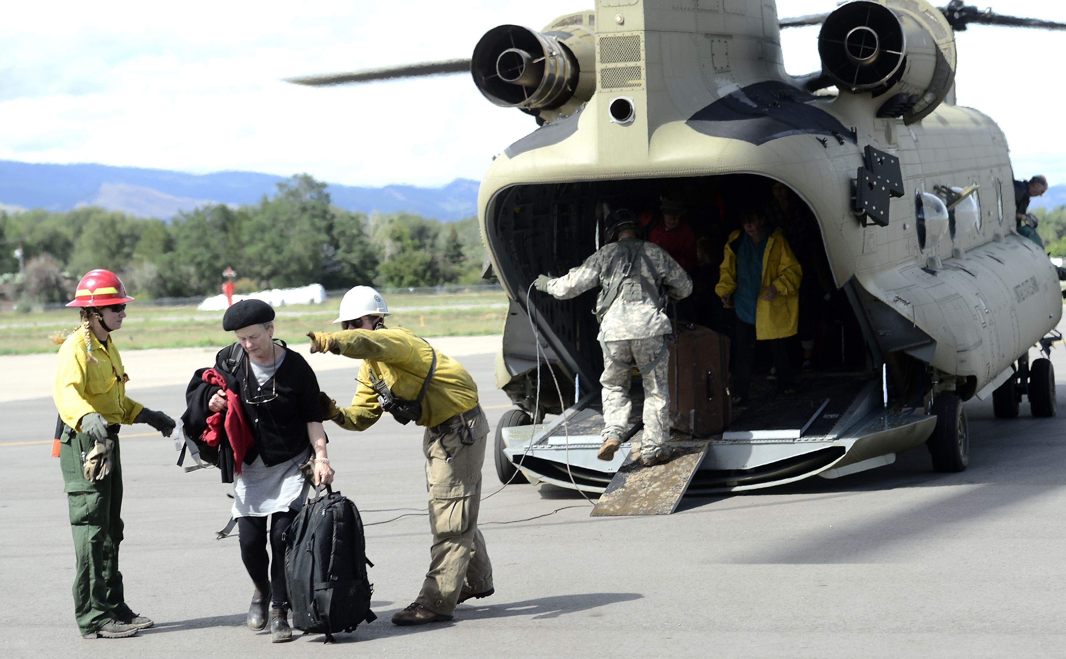 National Guard Helicopter Evacuation
