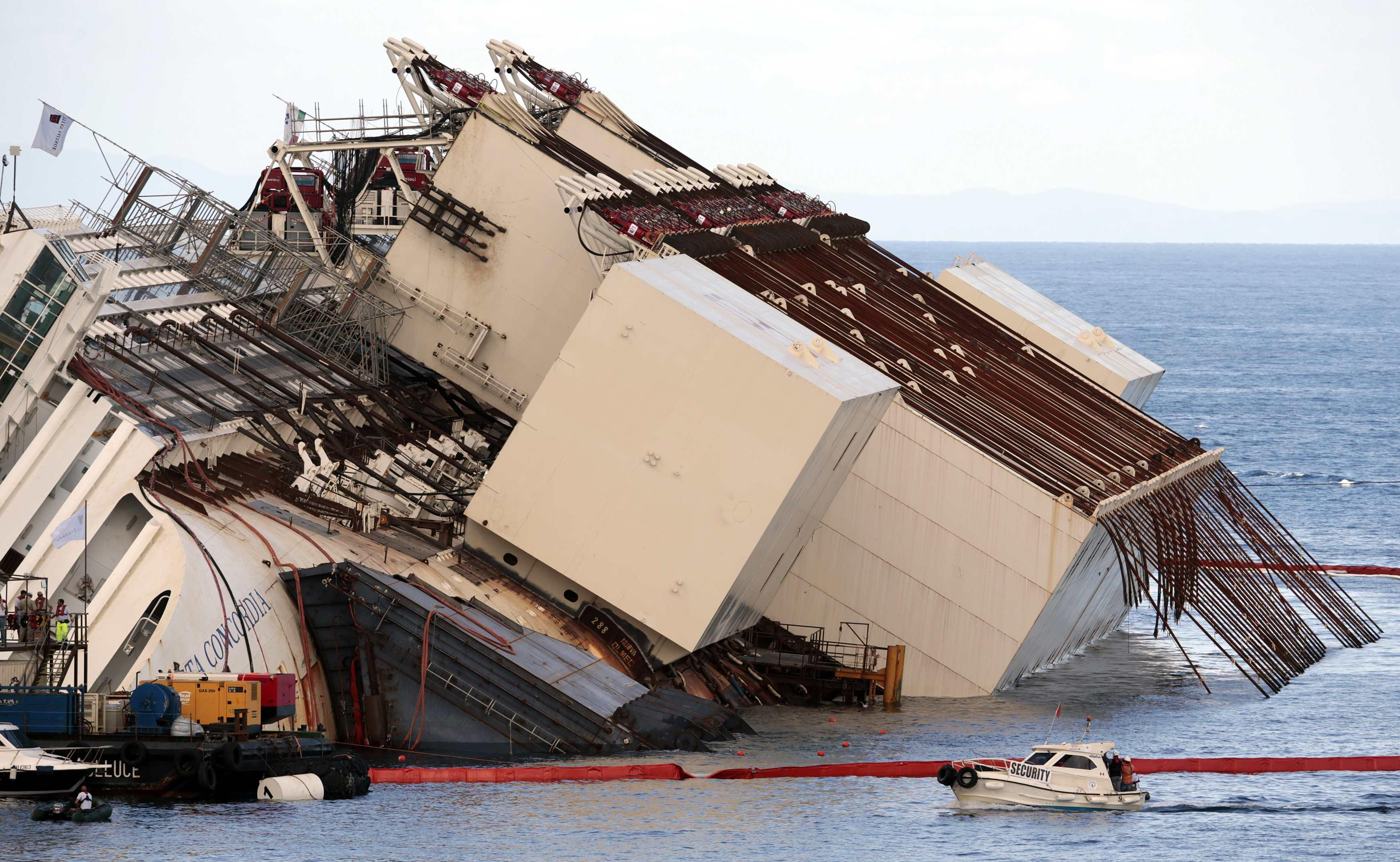 Costa Concordia pre uprighting