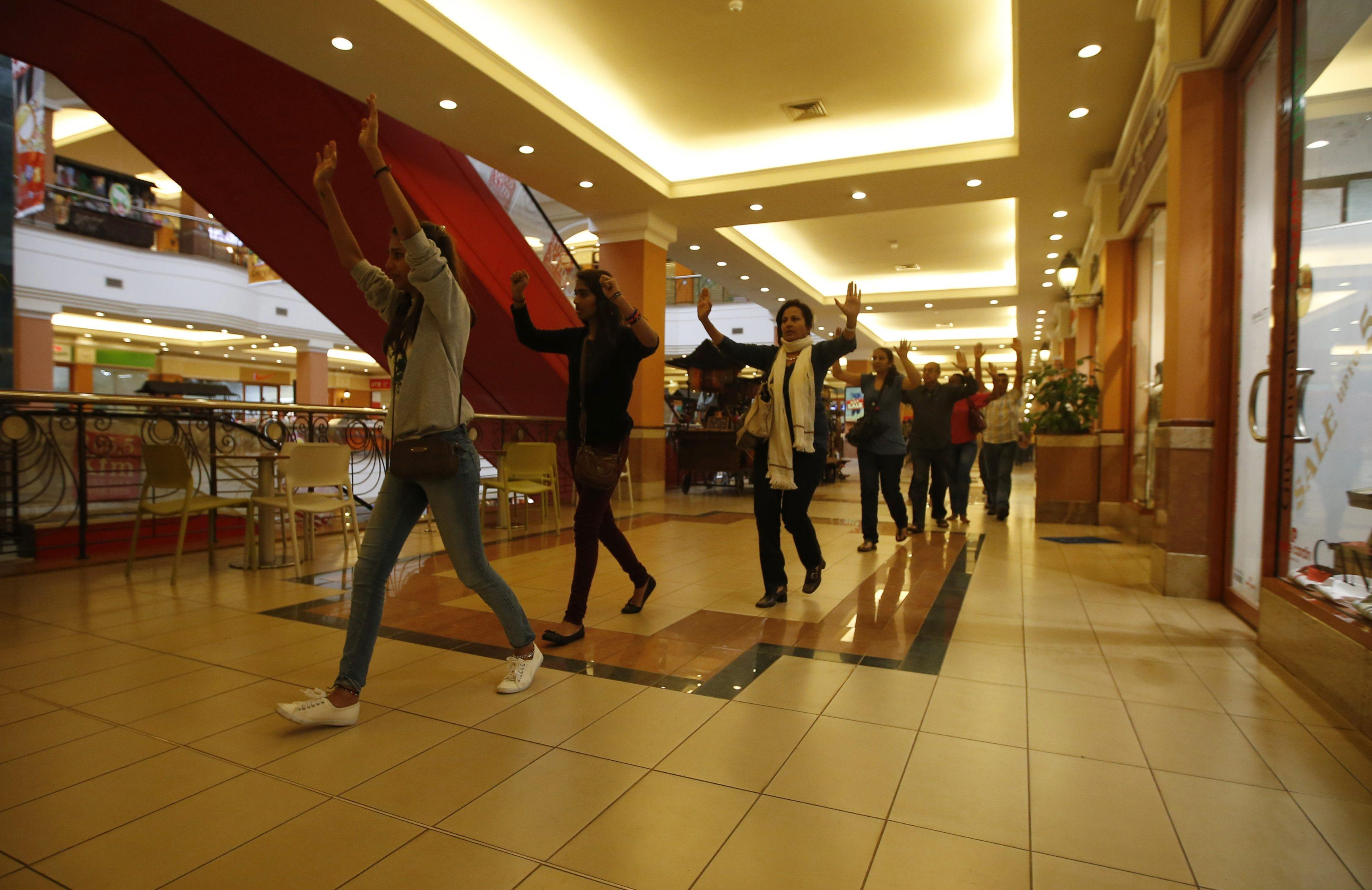 Nairobi mall evacuation