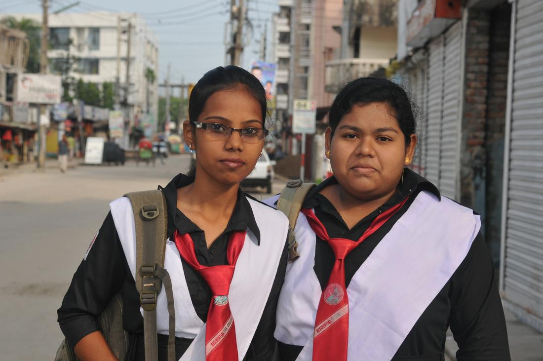 Students from Residential Laboratory College, Dhaka