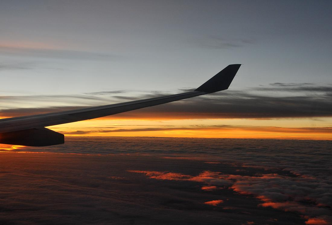 Dawn over the Pacific