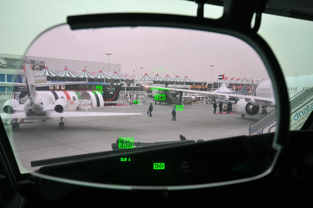 Boeing 737 heads-up display