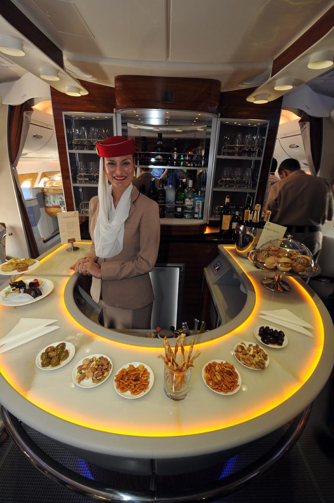 Emirates A380 bar area 1