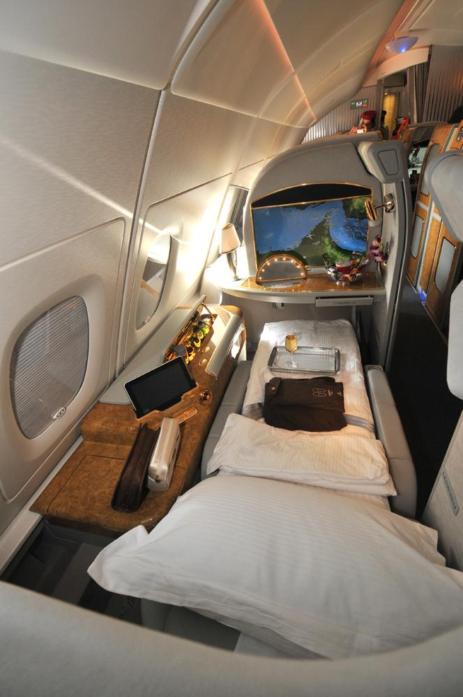 Emirates Airbus A380 first class B