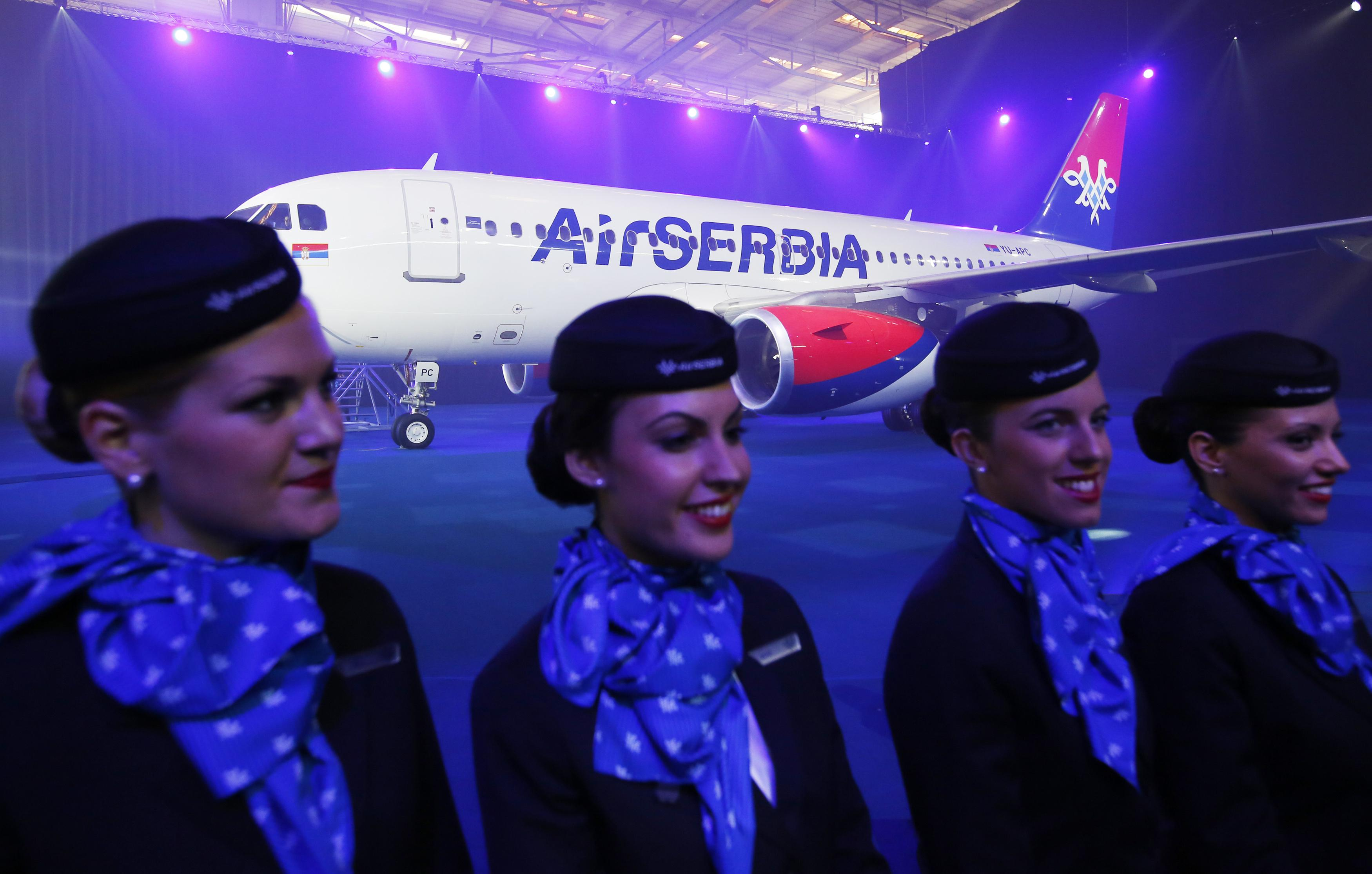 Air Serbia flight attendants